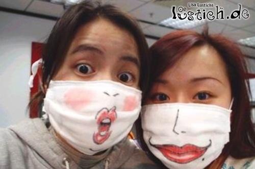 Mundschutz Mit Gesicht