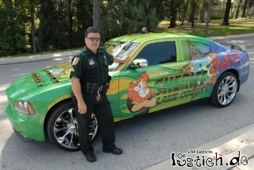 Buntes Polizeiauto Bild Lustich De
