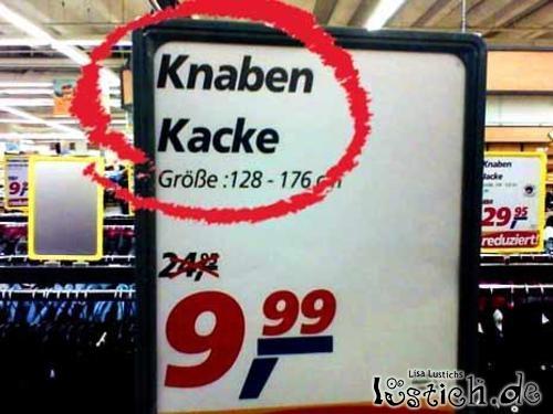 Knaben Kacke