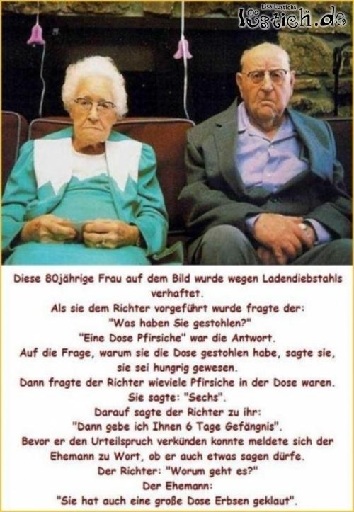 Oma hat geklaut Bild - lustich.de