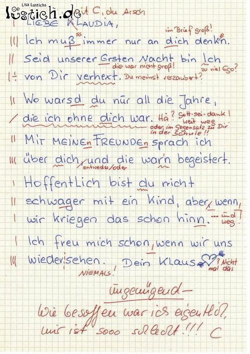 Liebesbrief Bild - lustich.de