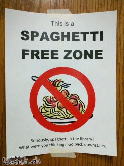 Spaghetti In Der Bibliothek Bild Lustich De