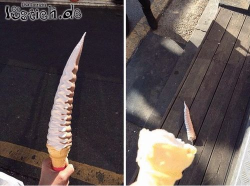 Die schöne Eiscreme