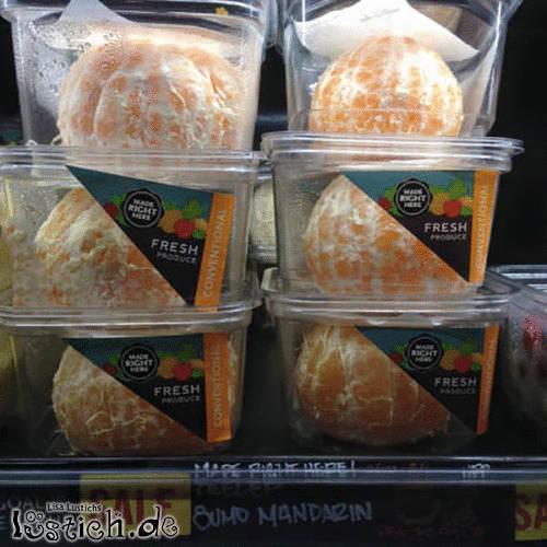 Gepellte Mandarine