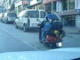 Motorrad als Transporter