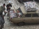 Fahrbarer Zeitungskiosk