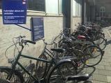 Fahrräder abstellen verboten