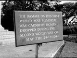 Beschädigung am Kriegsdenkmal