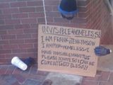 Unsichtbarer Obdachloser