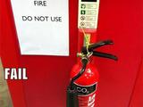 Feuerlöscher nicht zum löschen von Feuern