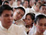 Fieses Hochzeitspaar