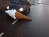 Eis auf der Straße