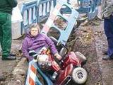 Rollstuhl-Unfall