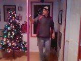 Weihnachlicher Pole-Dance
