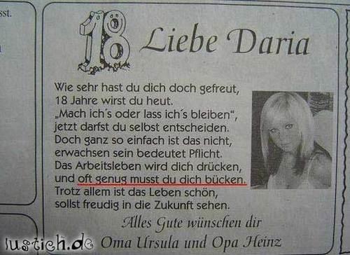 Geburtstags gl ckw nsche bild - Lustig auf englisch ...