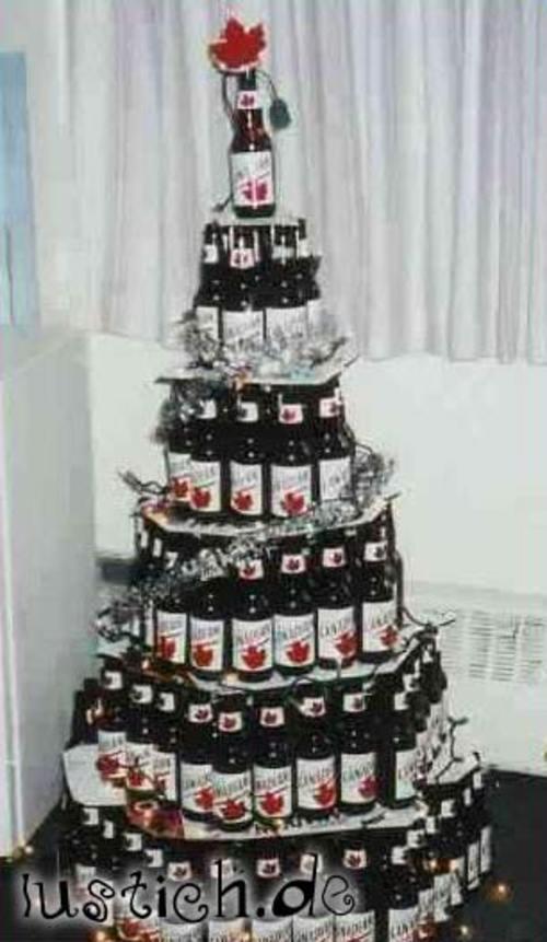 Bier Weihnachtsbaum.Bier Weihnachtsbaum Bild Lustich De
