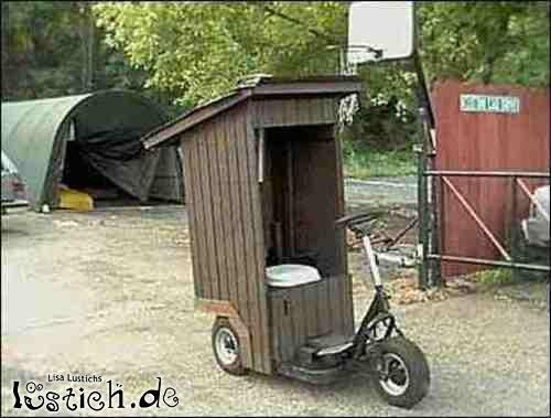 WC auf Rädern