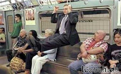 Sport in der U-Bahn