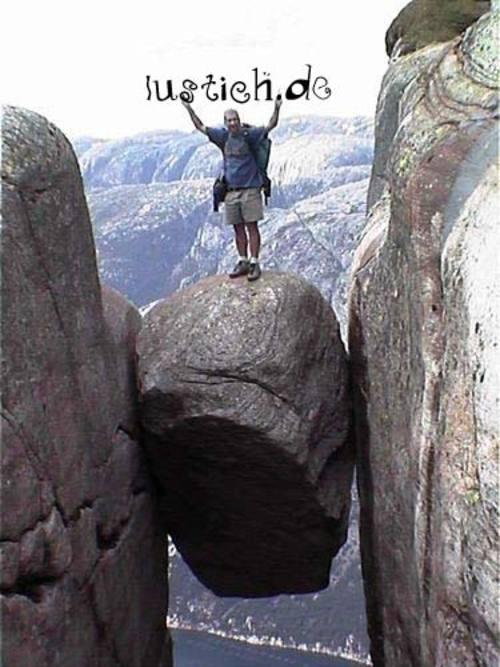 Optimistischer Bergsteiger Bild Lustich De