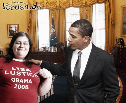 Lisa trifft Obama