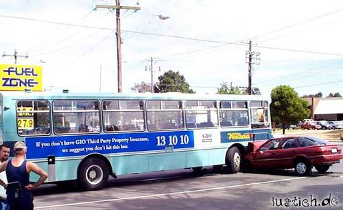 Nicht gegen den Bus fahren!
