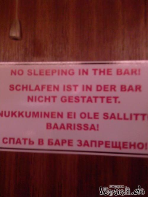 Bitte nicht schlafen