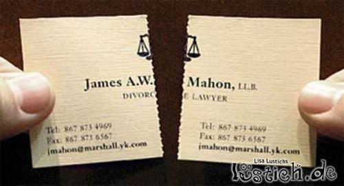 Lustige Visitenkarte Scheidungsanwalt Bild Lustich De