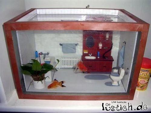 Badezimmer-Aquarium Bild - lustich.de