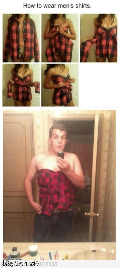 Hemd richtig tragen