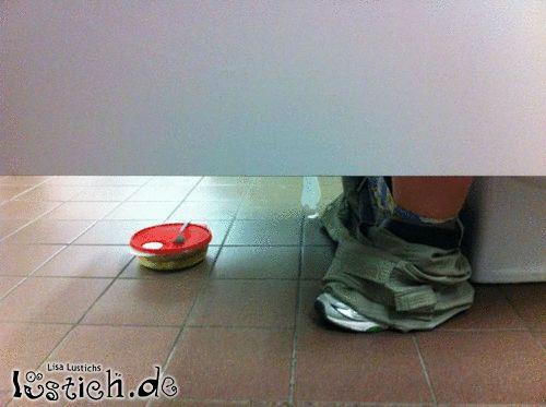 Auf Toilette essen