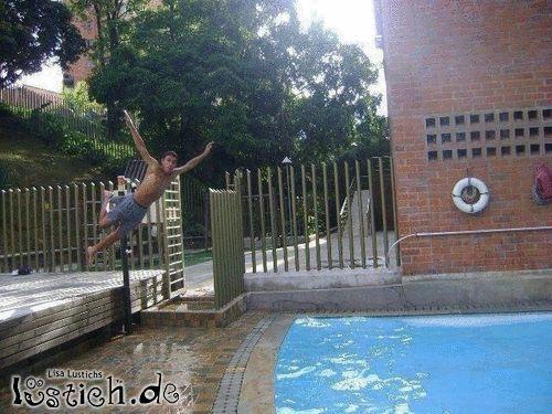 Sprung ins Becken