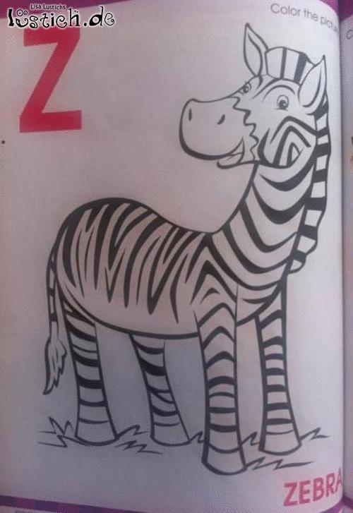 zebra ausmalen bild  lustichde