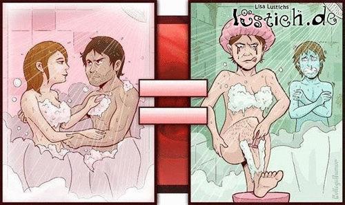 Mit Freundin Duschen