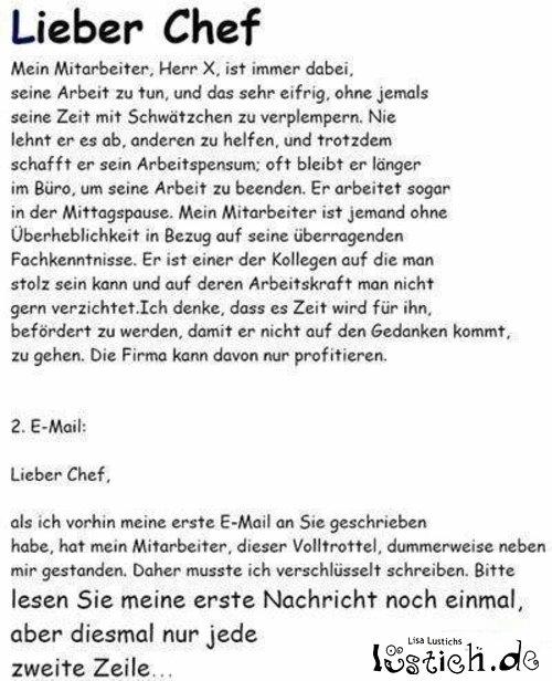 Email an den Chef Bild - lustich.de