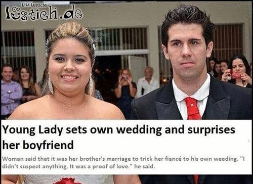 Überraschter Bräutigam