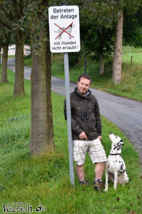 Hunde verboten