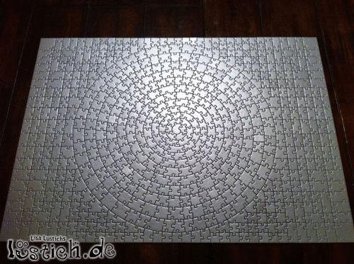 Weißes Puzzle Bild - lustich.de
