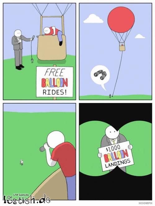 Kostenlose Ballonfahrt