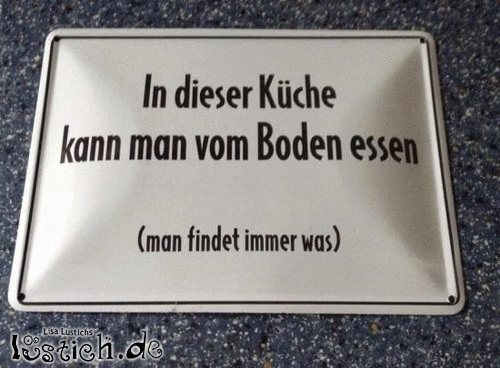 Vom Boden essen Bild - lustich.de