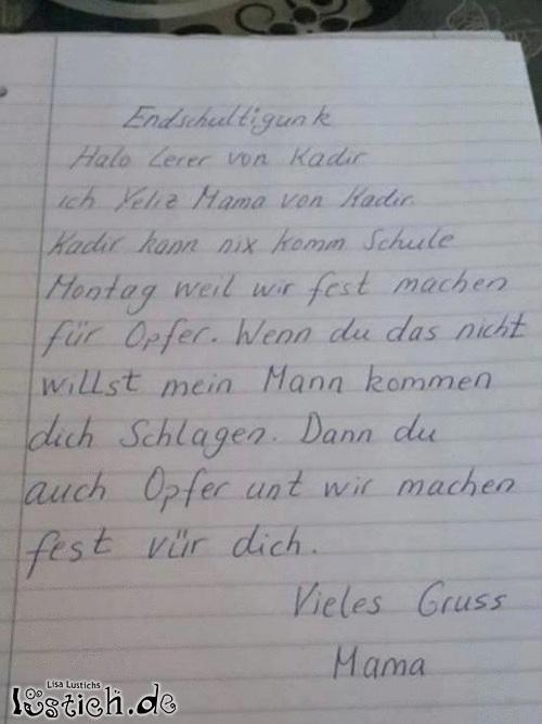 Lehrerin abschiedsbrief an Schreiben Sie