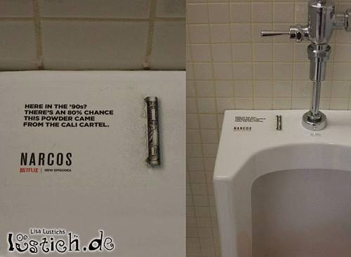 Narcos-Werbung