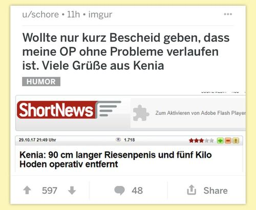 Shortnews des Tages