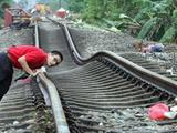 Verformte Gleise