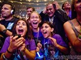 Papa auf dem Konzert von Justin Bieber