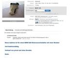 Auktion mit einer Bombe