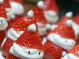Erdbeer-Weihnachtsmänner
