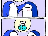 Kranker Pinguin