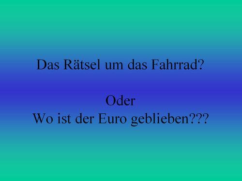 Wo ist der Euro geblieben?