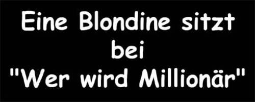 Blondine bei WWM