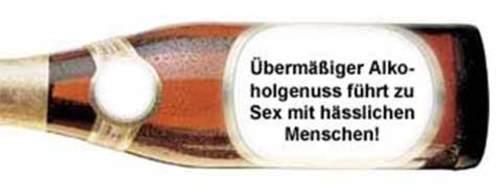 Bier-Warnhinweise